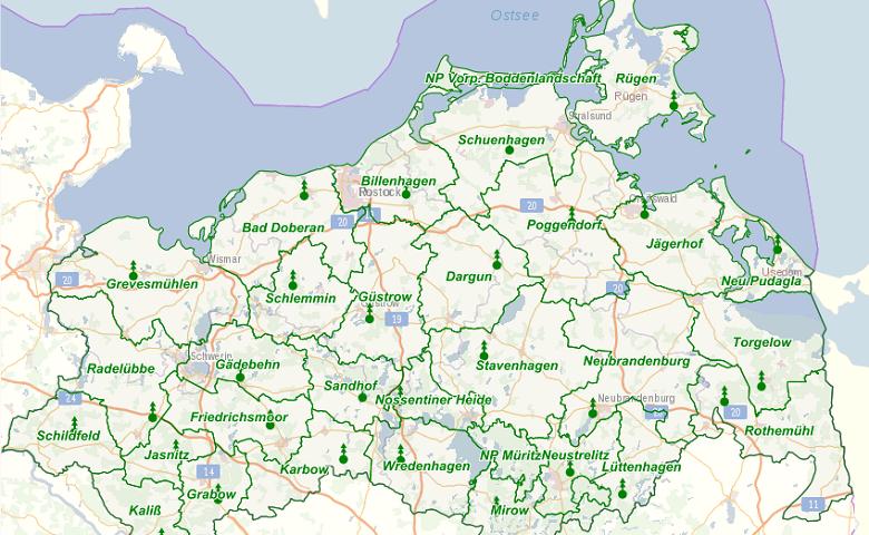 Karte Mv Kostenlos.Wald Mv